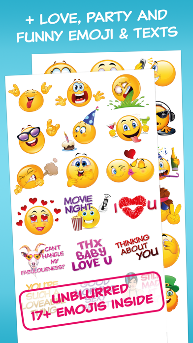 Flirty Dirty Emoticons - Adult Emoji for Texts and Romantic Couples screenshot two