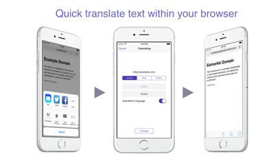 ReTranslator - translating web pages and extension for Safariのおすすめ画像1