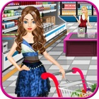 Supermarket Shopping Girl - top free time management cash register grocery shop games for girls icon