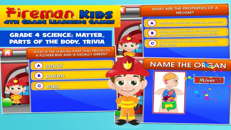 Fireman Kids 4th Grade Learning Games School Edition By Family Play