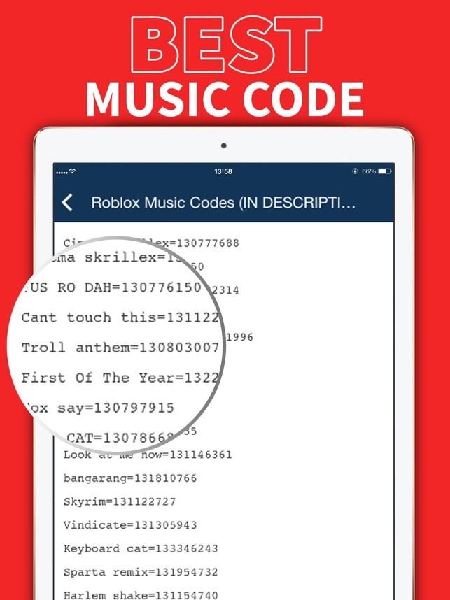 Music Code For Roblox On The App Store