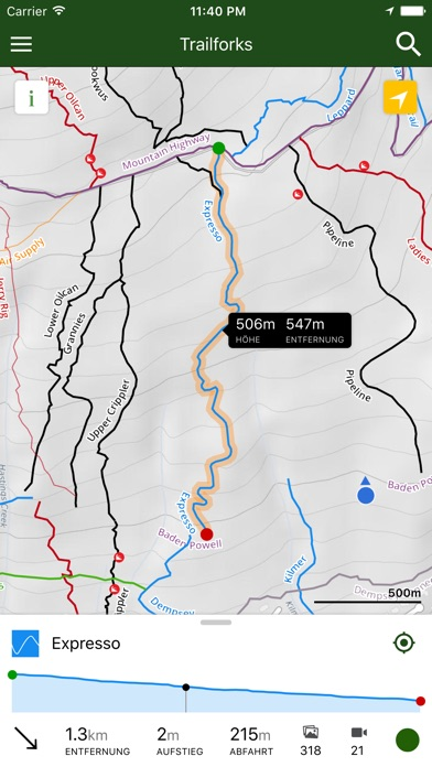 Screenshot for Trailforks - Bike-Strecke Kart in Switzerland App Store
