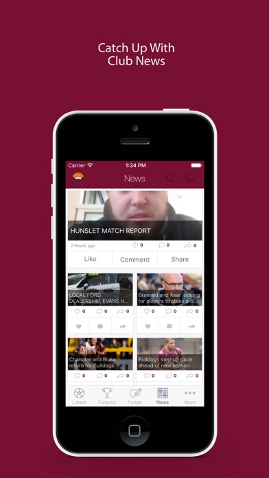 Fan App for Batley Bulldogs screenshot three