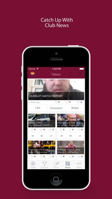 Fan App for Batley Bulldogs screenshot three