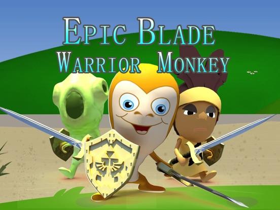 史诗武士刀亲猴 - 剑战斗-ipad-0