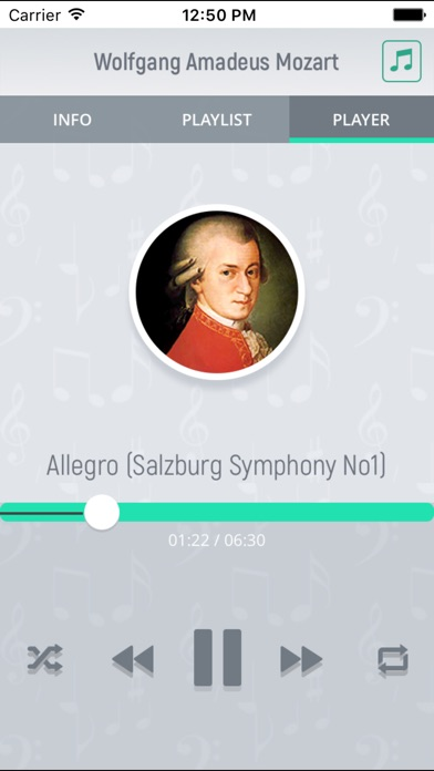 Wolfgang Mozart - Classical Music Screenshot on iOS