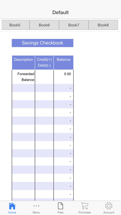 Savings Check Book screenshot-4
