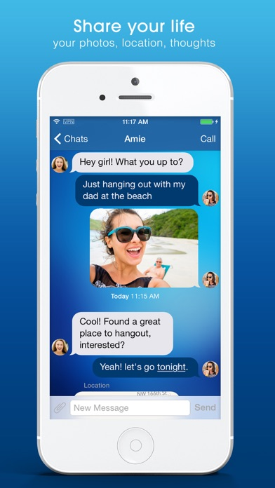 DUO Free Secure Messaging: Text Now via Encryption Screenshot on iOS