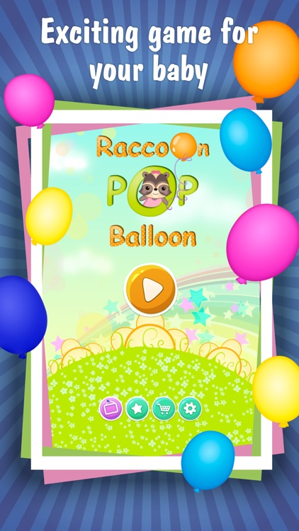 Candy Raccoon: Pop Balloons