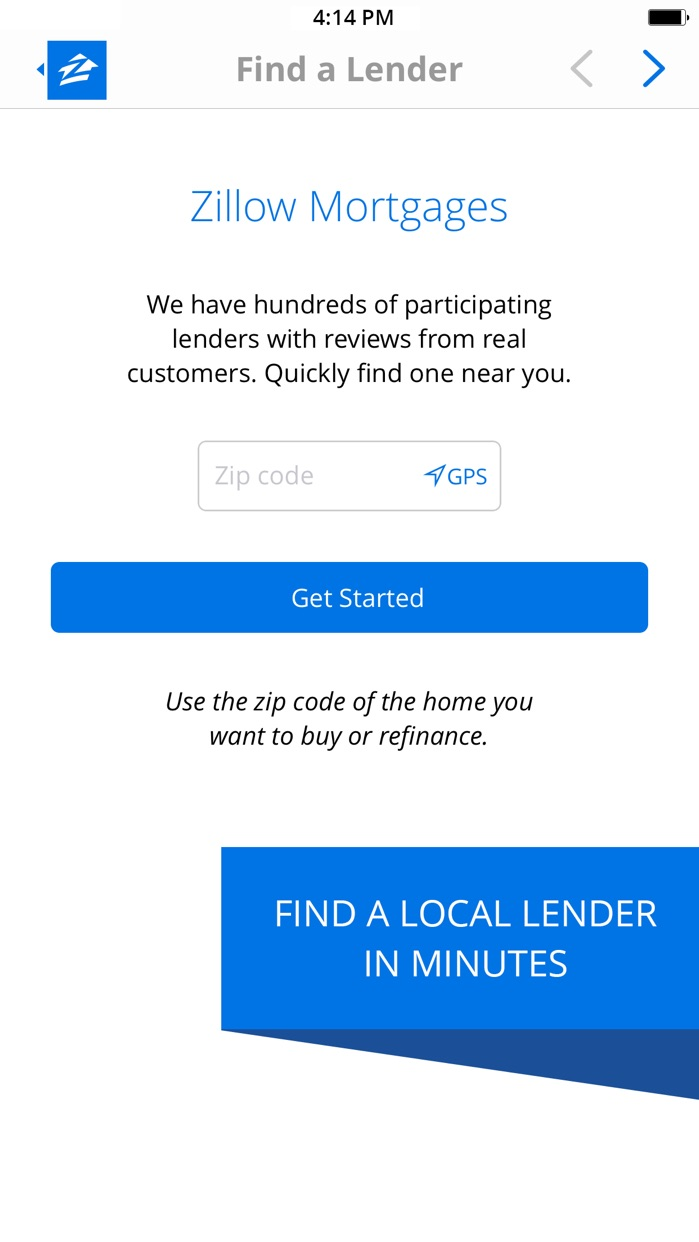 Zillow Mortgages - Calculator & Home Loan Rates Screenshot