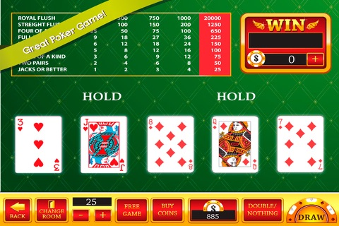 Red Video Poker : 1 2 32 Decode Jackpot Casino Game screenshot 2