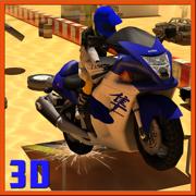 摩托车特技赛道上比赛- 越野车赛车游戏