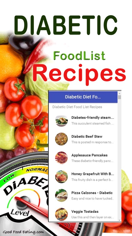 Diabetic Diet Food List Recipes