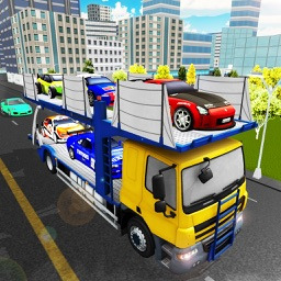 3D Transport Car Trailer Truck - Multilevel Real City Traffic Car Parking & Driving Game
