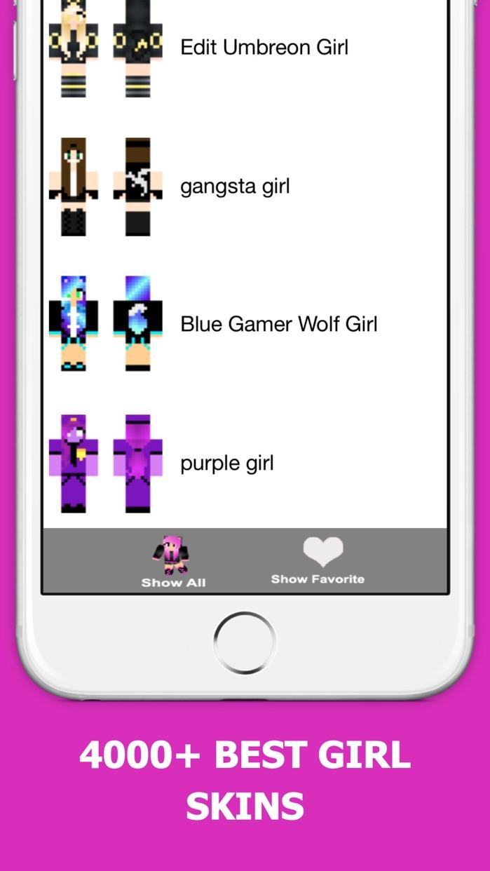 Best Girl Skins for Minecraft PE Free Screenshot