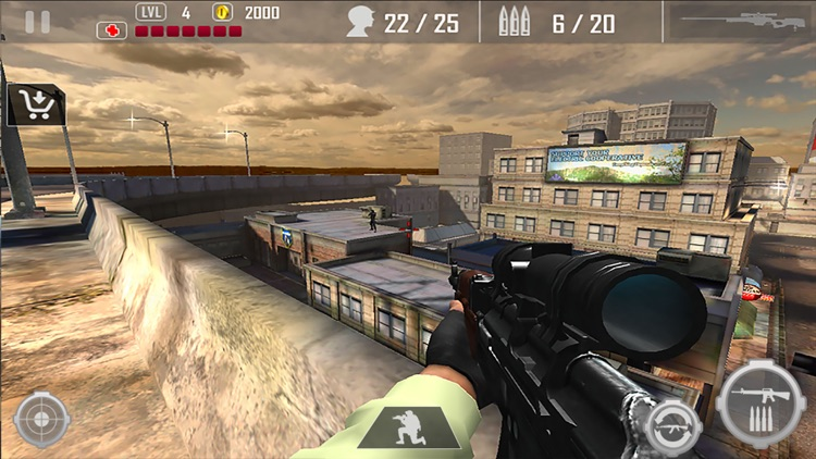Urban Commando Shooting Blackout 3D screenshot-4