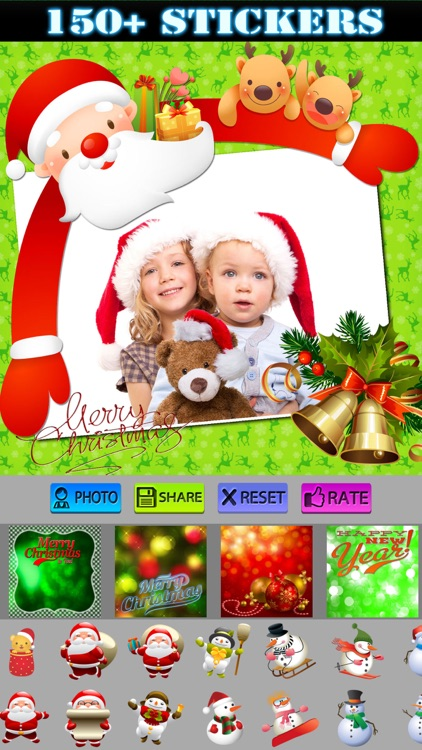 Christmas Stickers and Photo Frames