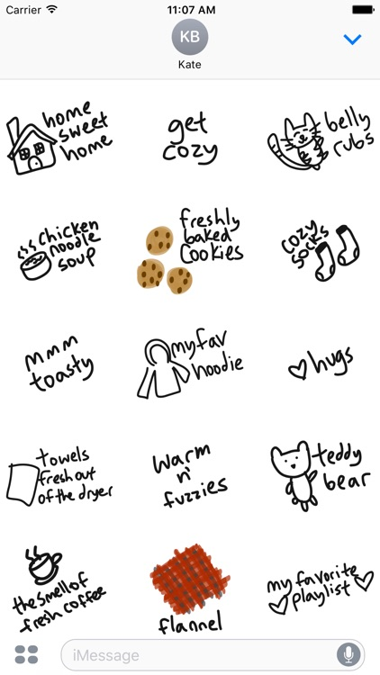 Cozy sticker pack, cute love stickers for iMessage