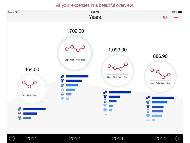 Next for iPad - Expenses screenshot-0