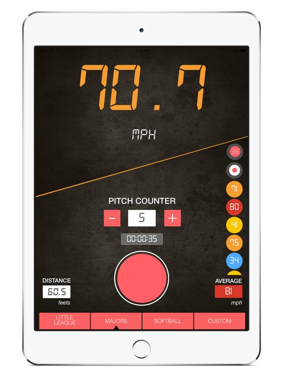 Baseball Pitch Speed Radar Gun HD