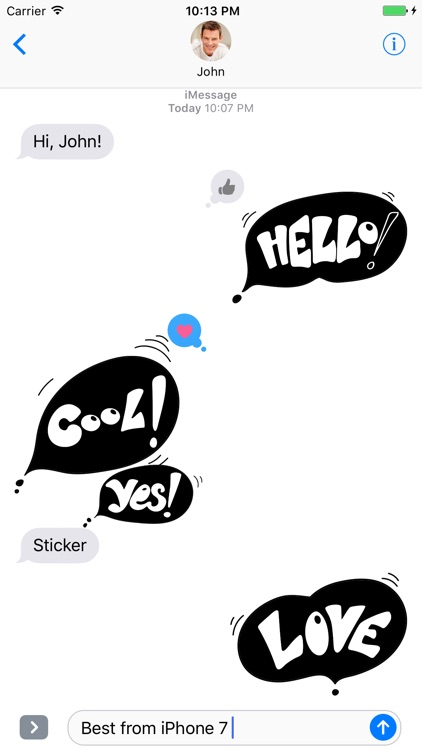 Black Spot - Stickers for iMessage