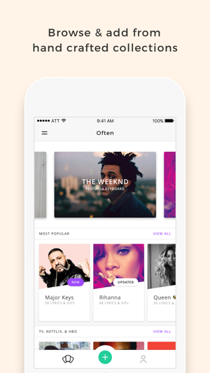 Often - Create & share your own keyboard with GIFs, Photos