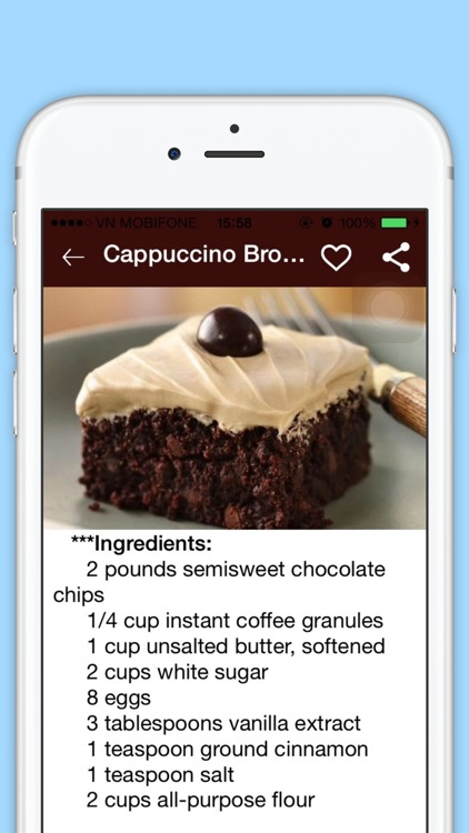 Brownie Recipes - Best Cookbook of  Sweet Food Recipes for Dinner and Breakfast screenshot-3