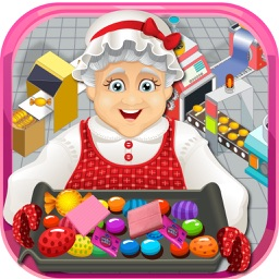 Granny's Candy & Bubble Gum Factory Simulator - Learn how to make sweet candies & sticky gum in sweets factory