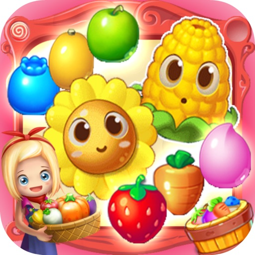 Crazy Garden Mania - Angry Fruit Match 3