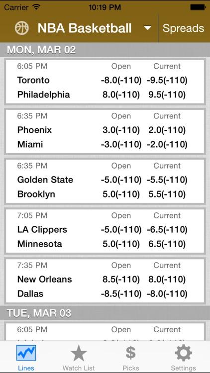 Odds Insider - Live Sports Betting Odds & Picks