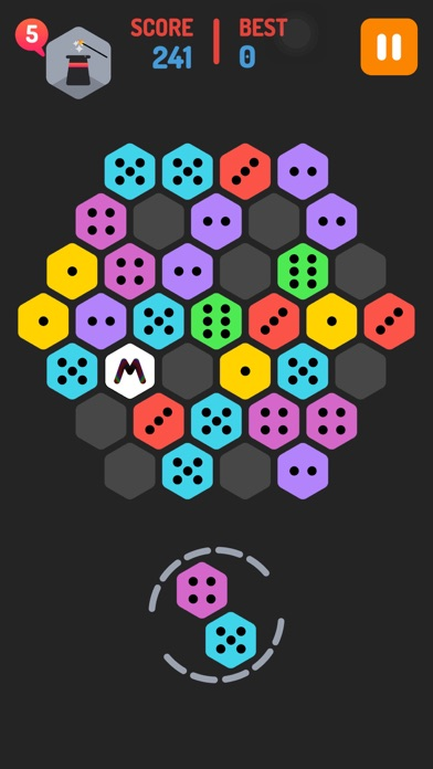 Merge Block Hexa - Puzzle Merged Logic 50 50 Addictive Extreme Game Screenshot on iOS