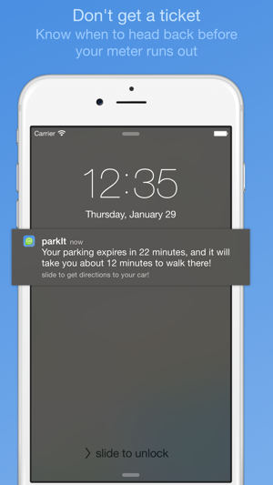 ParkIt - parking location and expiration reminder Screenshot
