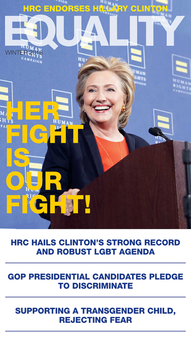 Human Rights Campaign Equality Magazine screenshot one