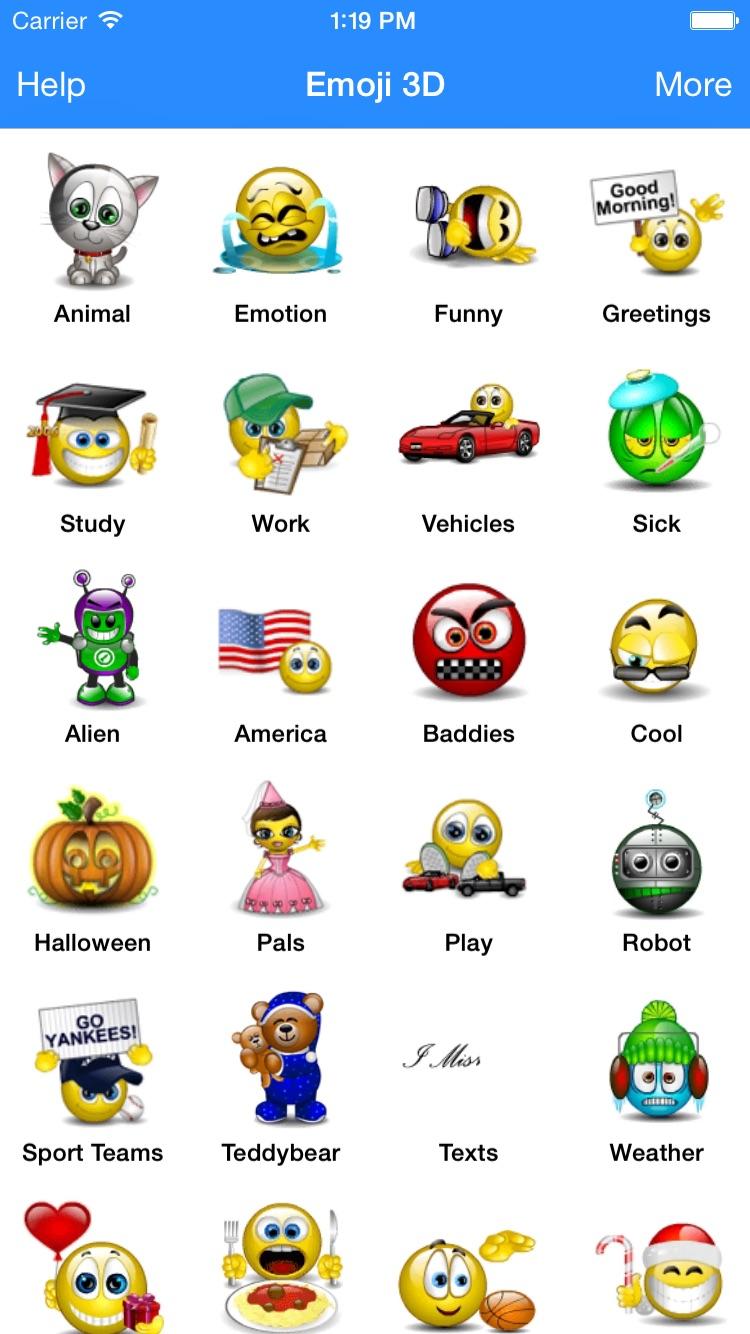 Animated 3D Emoji Emoticons Screenshot