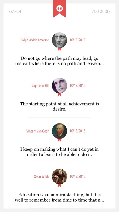 Quotes to Go — Notebook for your Quotes screenshot one