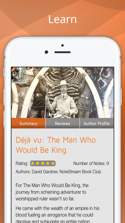 NoteStream: Man Who Would Be King & Book Club