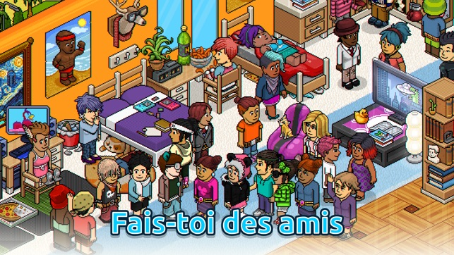 habbo monde virtuel dans l app store. Black Bedroom Furniture Sets. Home Design Ideas