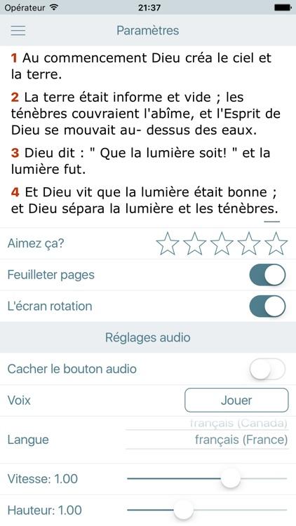 La Bible Catholique Audio Catholic Bible in French screenshot-4