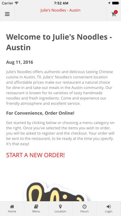 Julie's Noodles - Austin Online Ordering