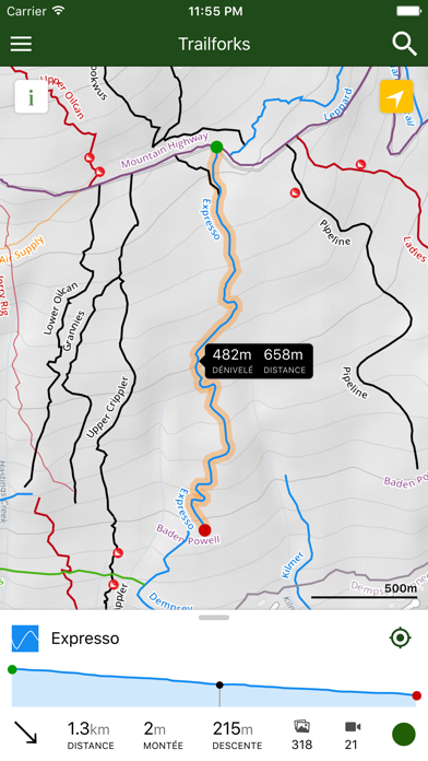 Screenshot for Trailforks - Carte Bike in Lebanon App Store