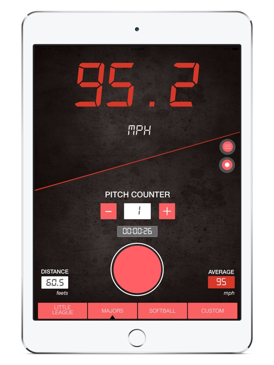 Baseball Speed Radar Gun HD screenshot-0