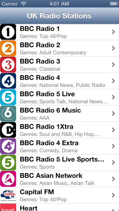 UK Radio Live (United Kingdom) screenshot one