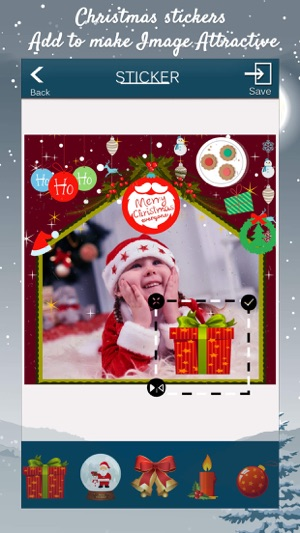 Christmas Picture Frames: Xmas stickers,greetings on the App Store