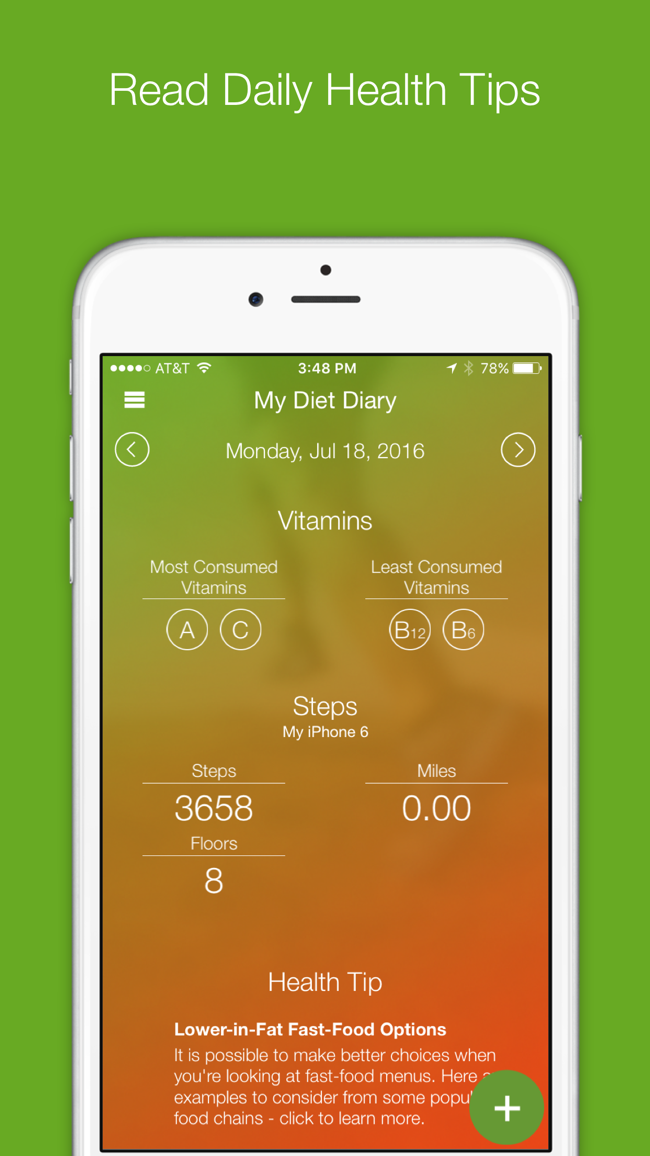 My Diet Diary Calorie Counter Screenshot