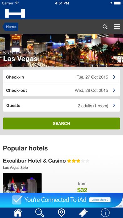 Las Vegas Hoteles + Compara y Reserva de hotel para esta noche con el mapa y viajes turísticosCaptura de pantalla de1