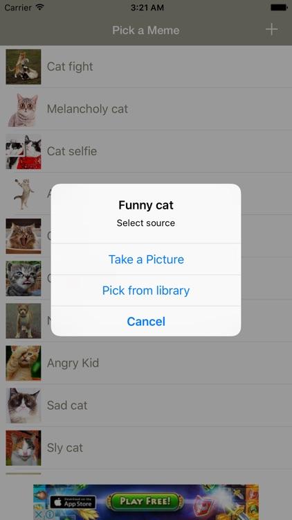 Funny Cat Make Memes - meme generator with funny cats, create your kitten memes screenshot-3