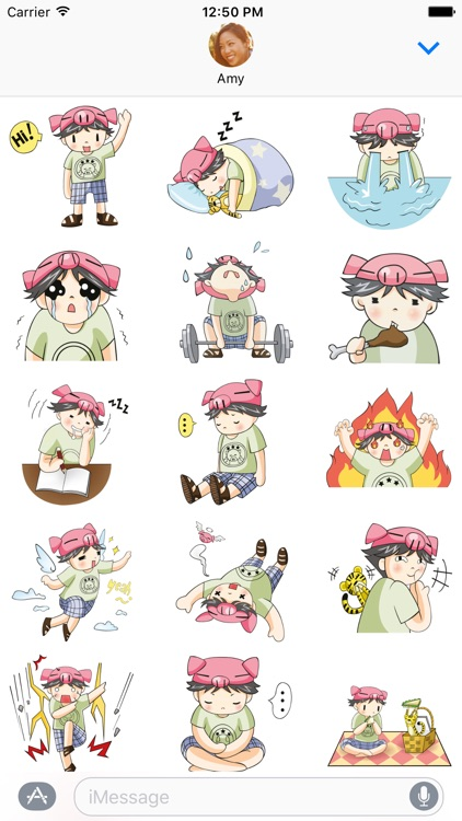 Piggy Boy – Chibi Character Stickers for iMessage