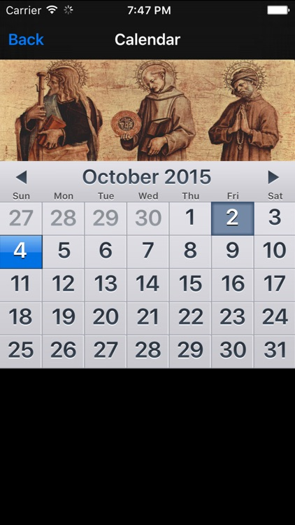 Saint Calendar screenshot-2