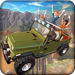 Offroad 4x4 Hill Flying Jeep - Fly  & Drive Jeep in Hill Environment