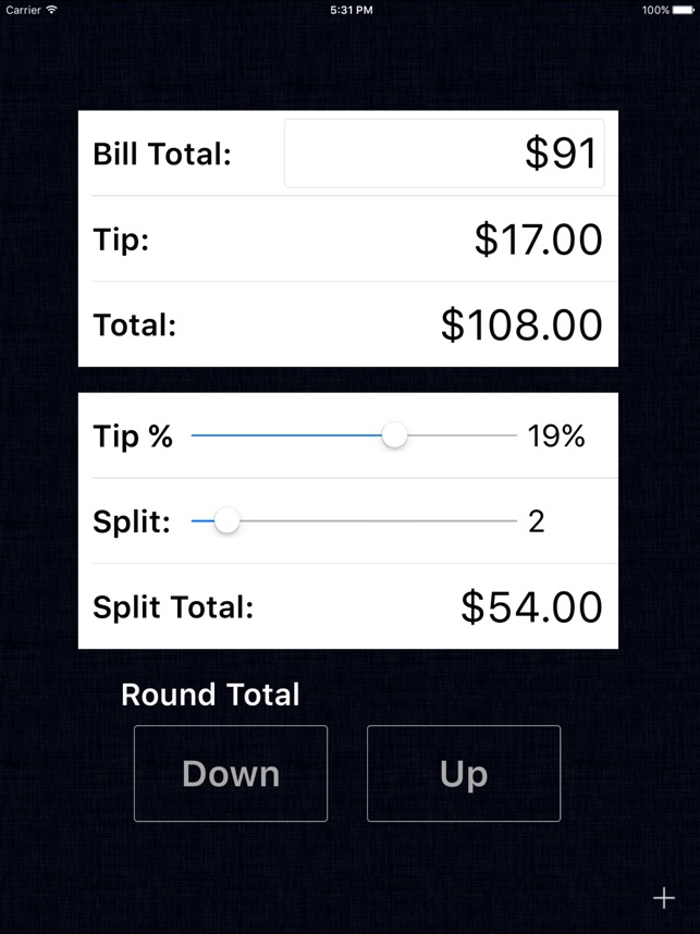 Tip Calculator Free Fast Tips And Split Bills On The App Store